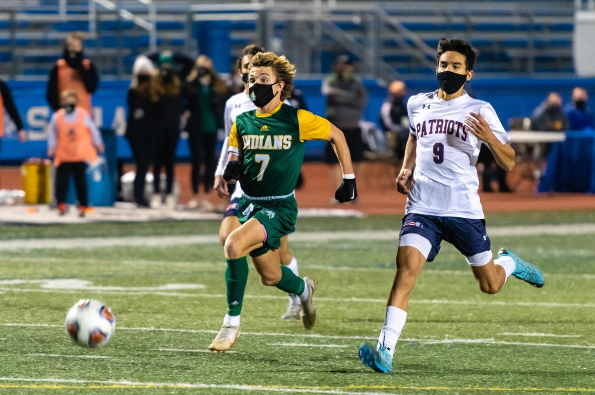 IR Boys' Soccer vs. Newark Charter School - State Championship - Jordan Illian outruns his opponent-SLam-1776.jpg (copy)