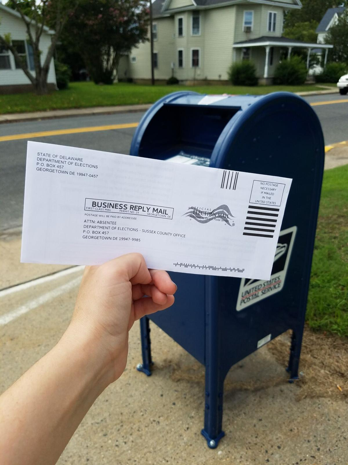 Mail-in ballot for primary election