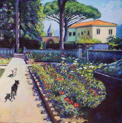 Garden Glories, pastel by Laura Hickman