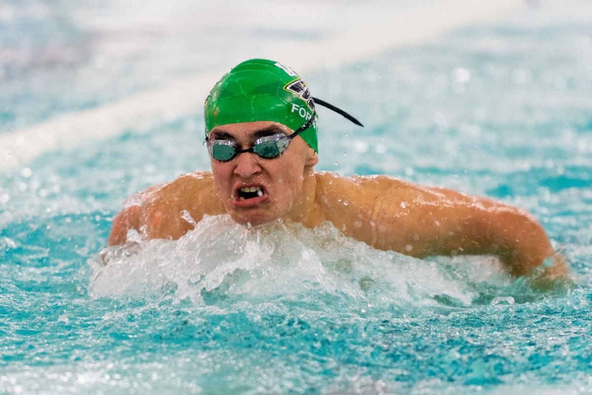 Max Forrey on swim team