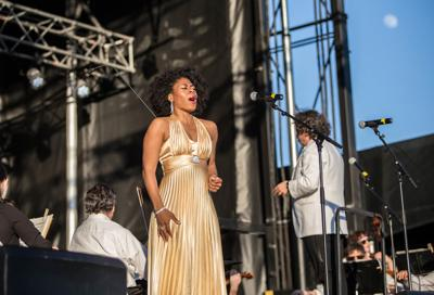 Opera singer with MSO at The Freeman Stage