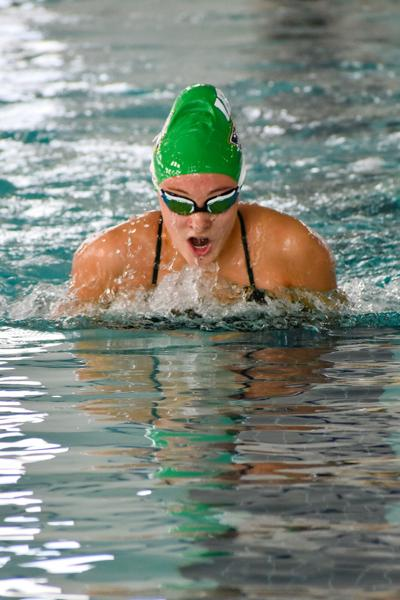 Emma Barthelmess breaststroke win