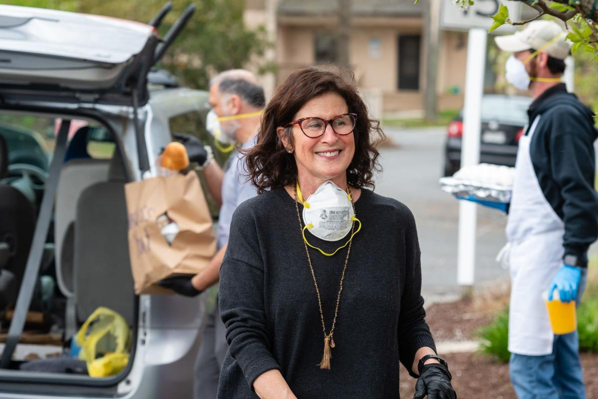 Lisa DiFebo-Osias at employee food drive