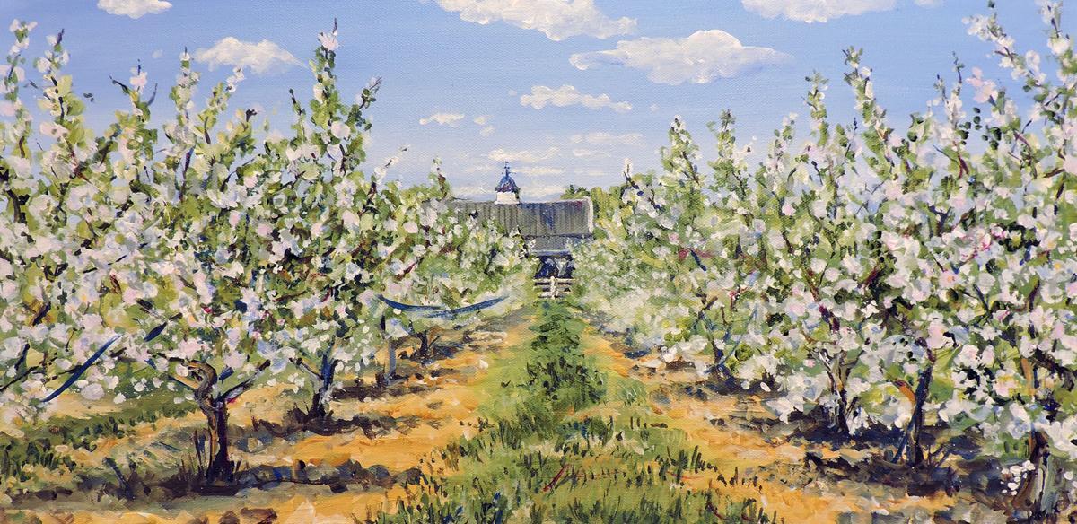 DSheldon Stag Farm Orchard acrylic.jpg