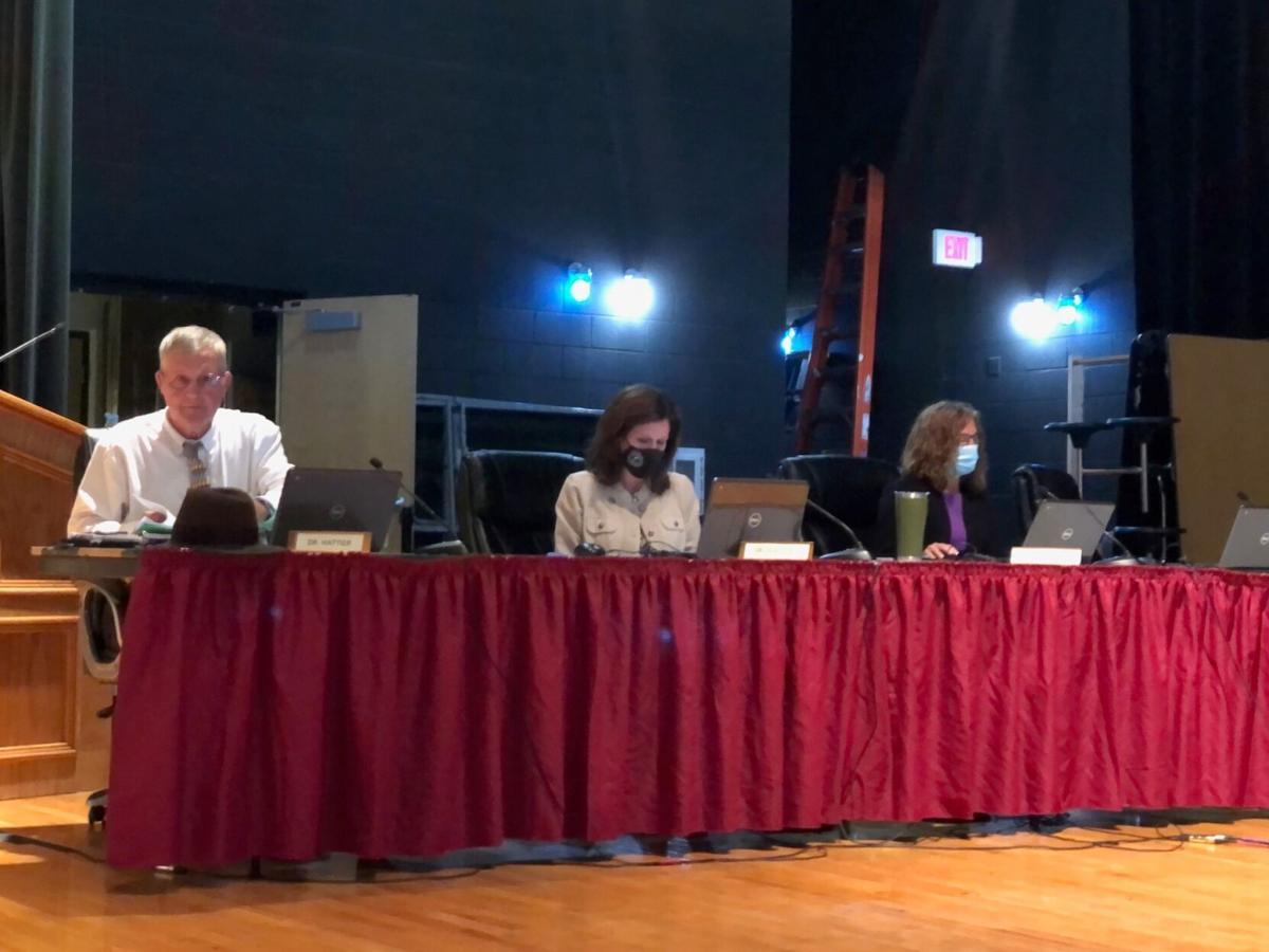 IRSD Board Donald Hattier, left
