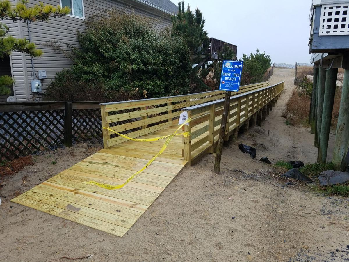 South Bethany: New walkways, closed beach