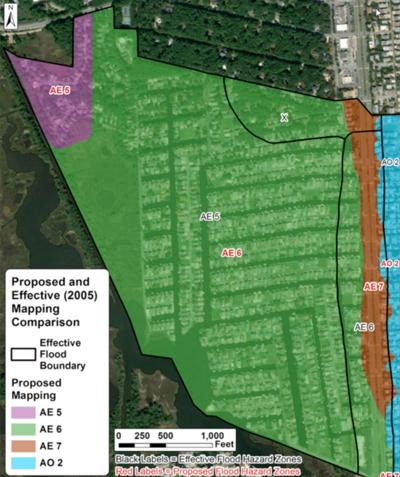 Proposed changes to South Bethany flood maps, Dec. 2020