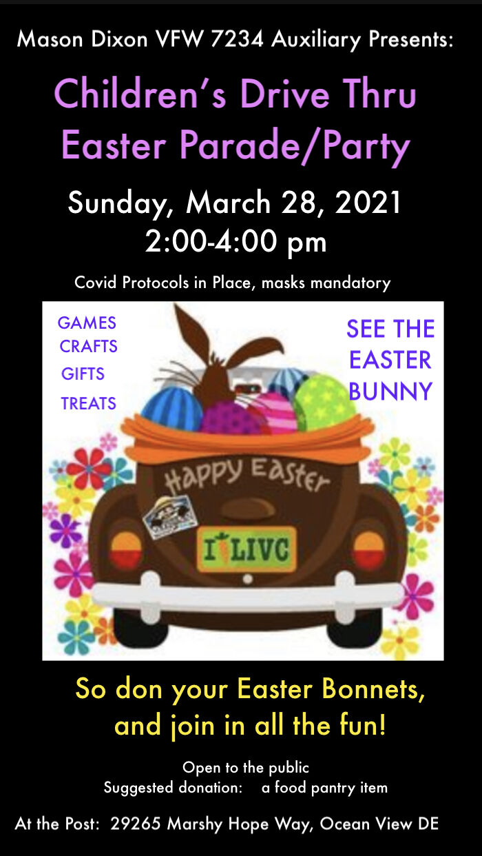 VFW Aux Easter party 2021 flyer