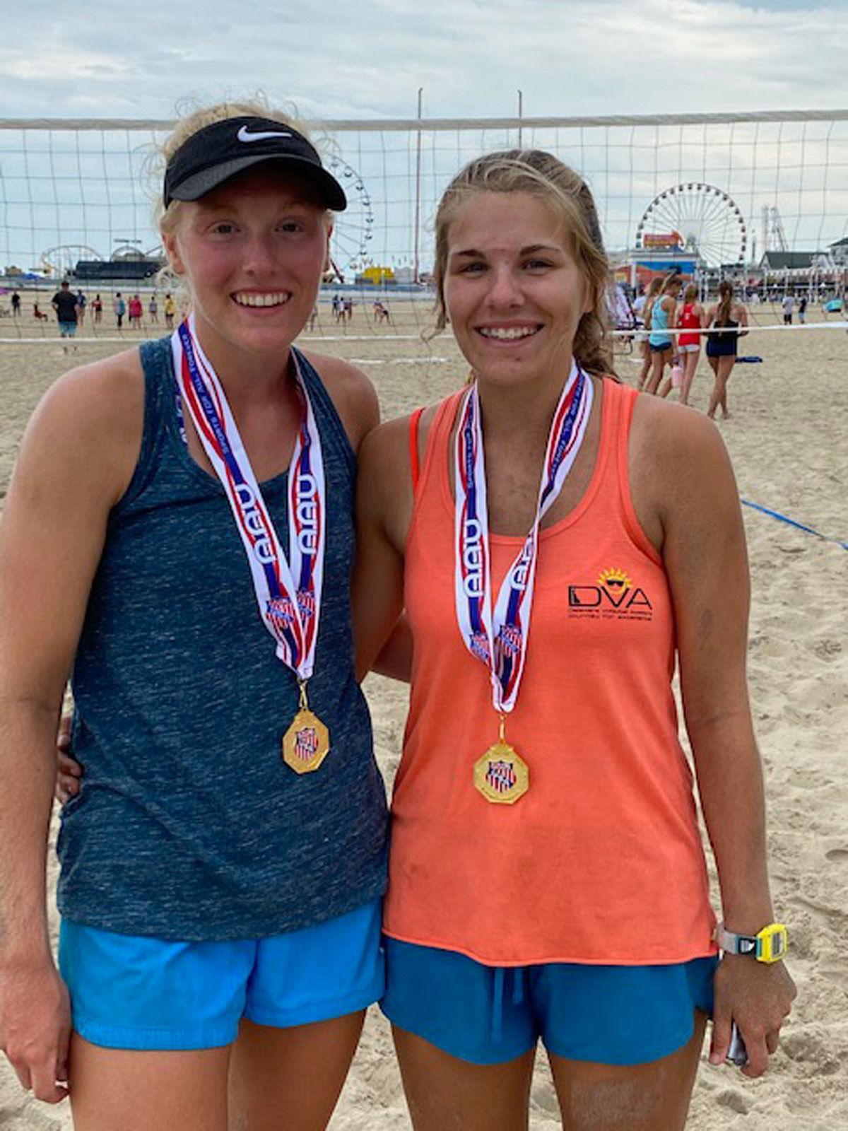 Camryn & Racyhel Ehlers volleyball