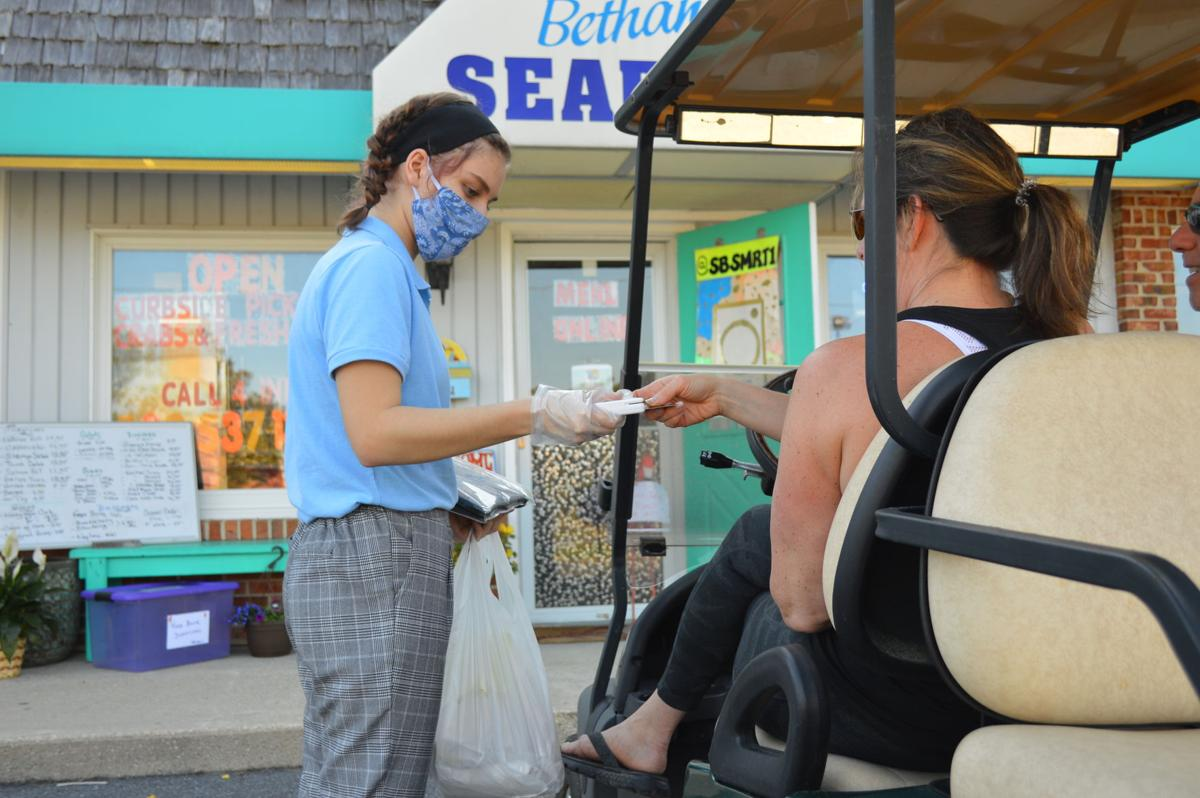 Curbside delivery at South Bethany Seafood