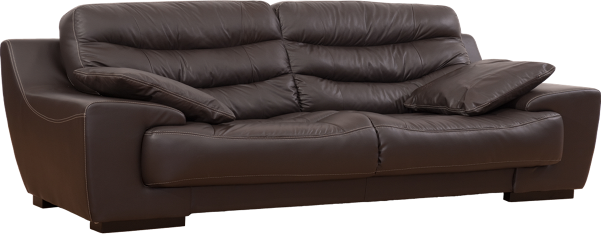 Monster brown leather couch