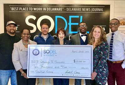 SoDel Cares donation to Pathways to Success in 2018