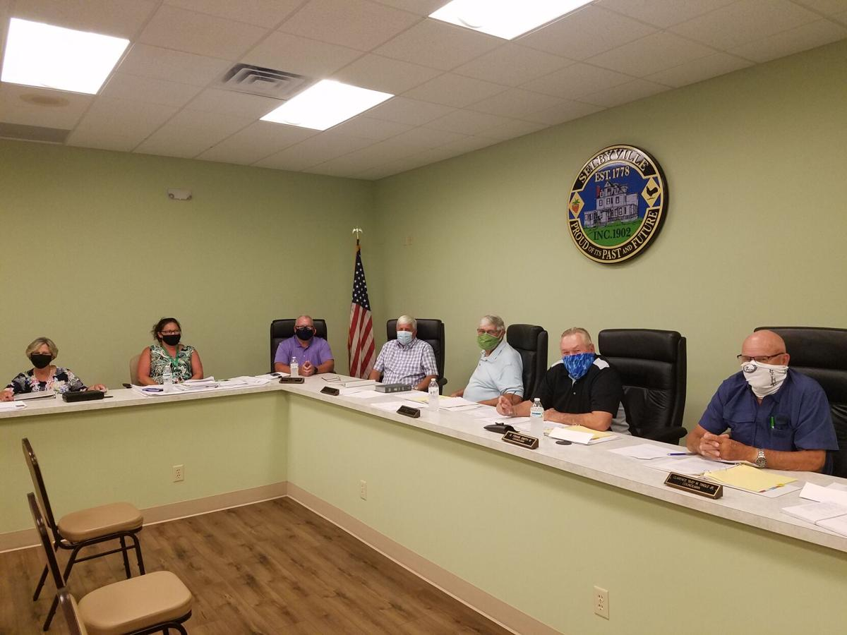 Selbyville Town Council in masks