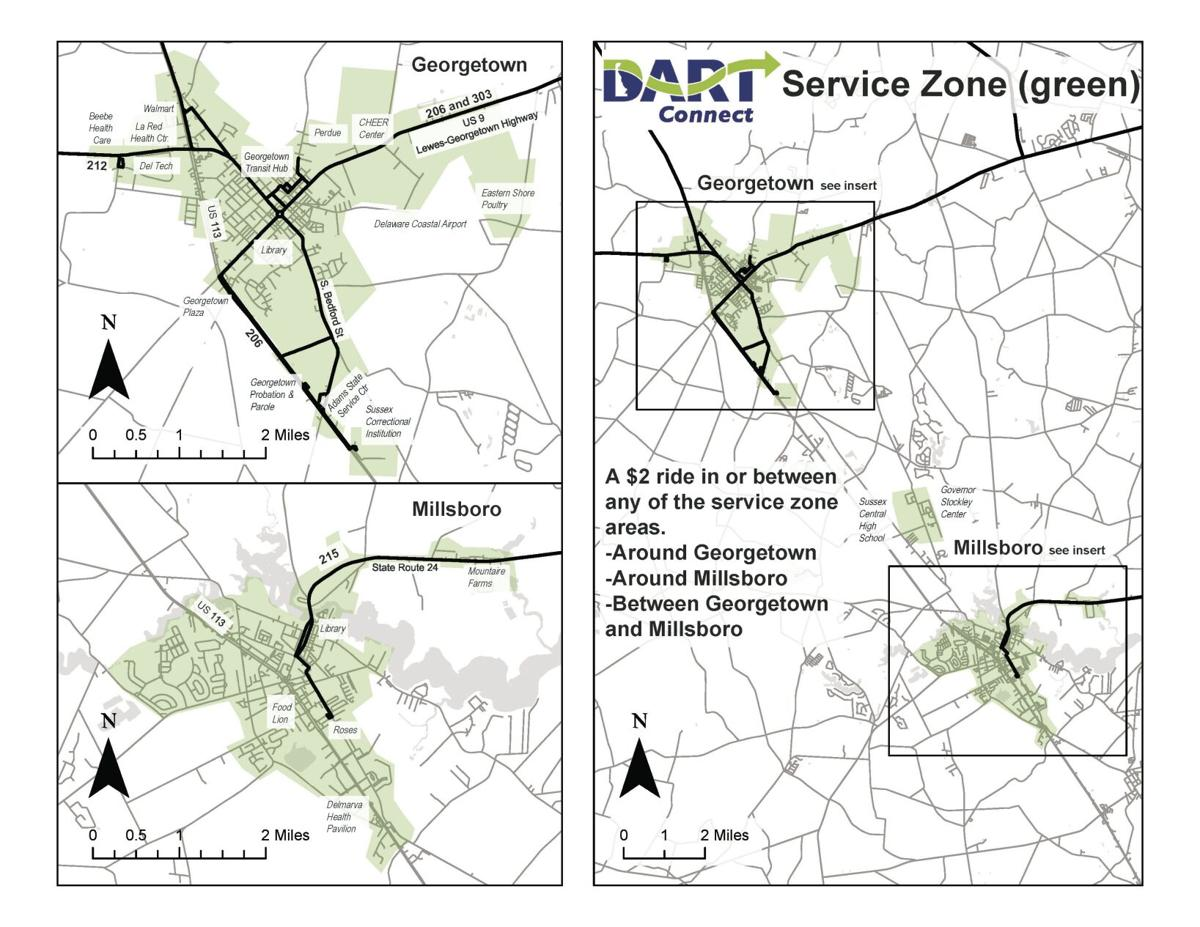DART Connect map