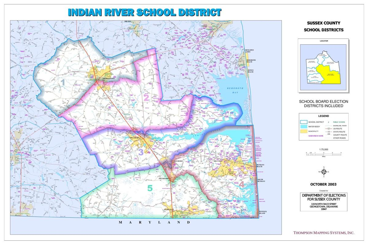 Map - Indian River School District - Election Voting Districts