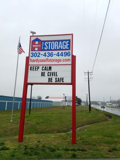 Business road sign offers hope to drivers