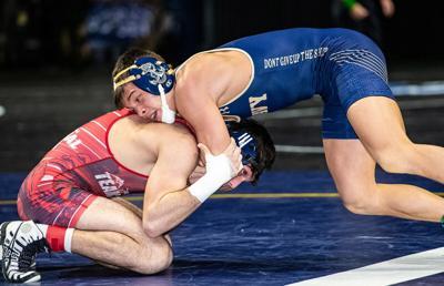 Jared Arlett wrestles