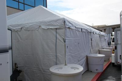 PRMC erects COVID-19 triage tent outside Emergency Department