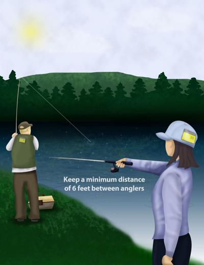 Anglers Should Maintain Six Feet of Distance During Coronavirus
