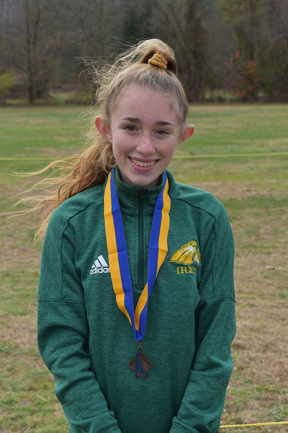 Brynn Crandell, IRHS girls' cross-country medalist (copy)
