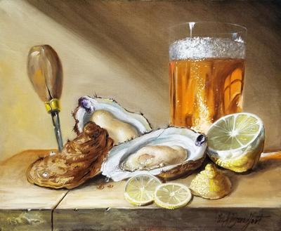 'Oysters' painting by Scott Broadfoot
