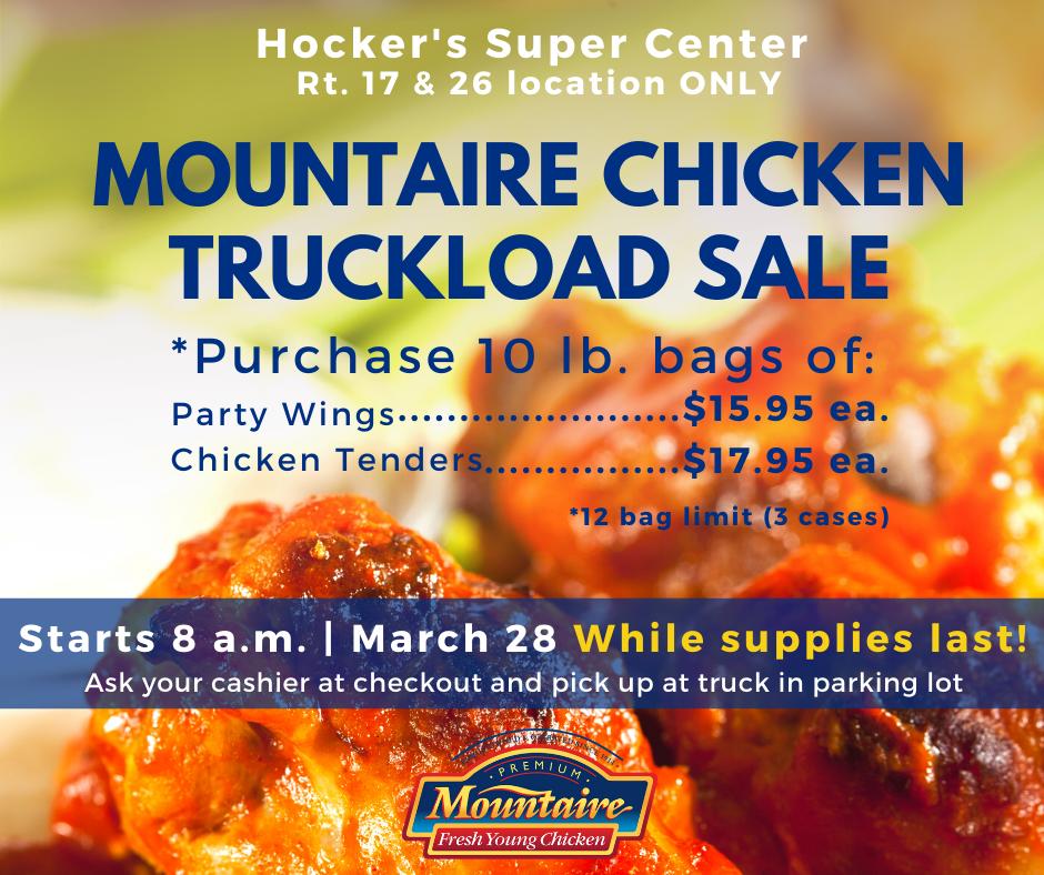 Hocker's March 28 chicken truckload sale