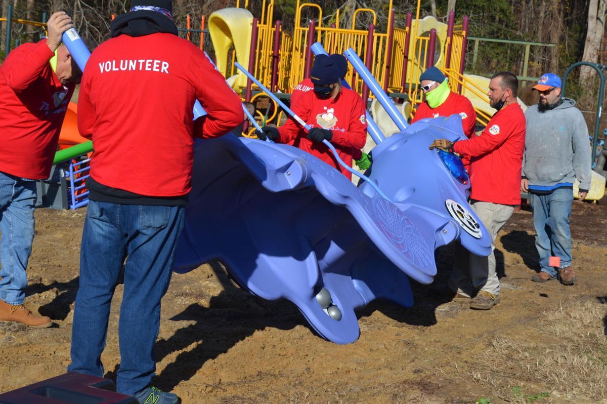 JMC playground volunteers