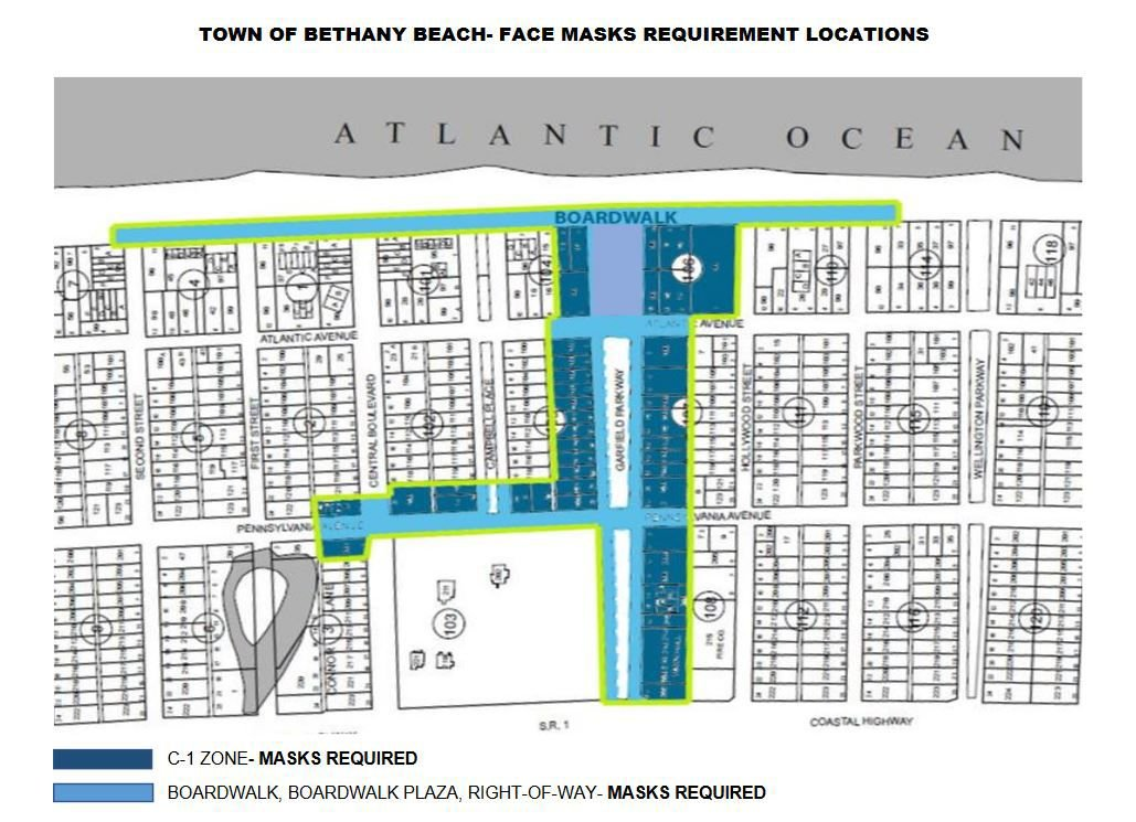 Bethany Beach C-1 mask-required zone