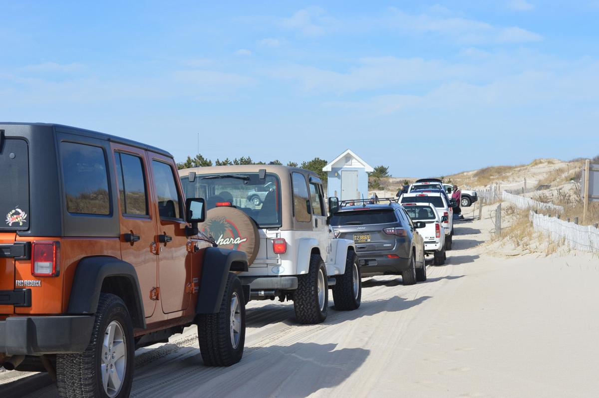 Drive-on class at surf-fishing beach