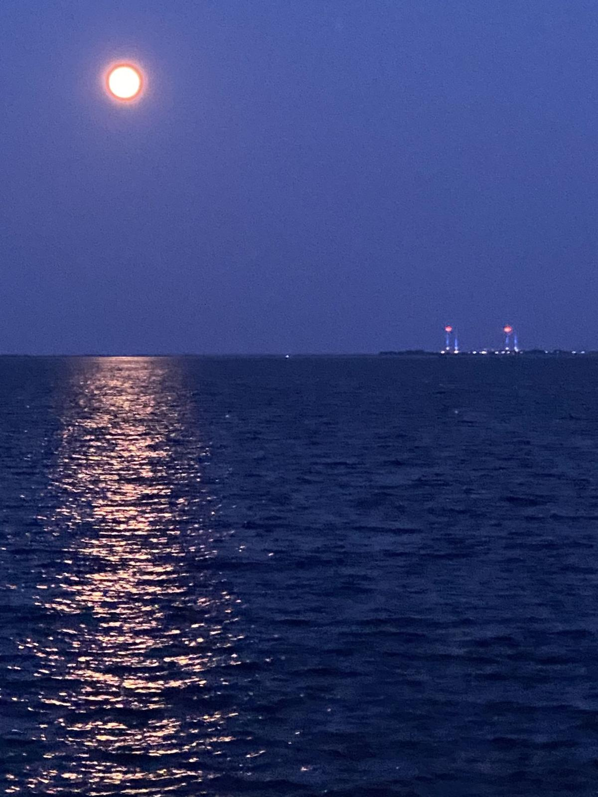 Moon over the Indian River Bay