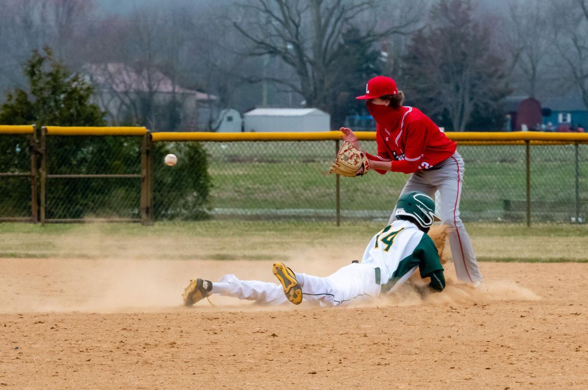 IRHS Baseball vs. Laurel - Ja'siah Rounds slides into second base, safe-SLam-5883.jpg