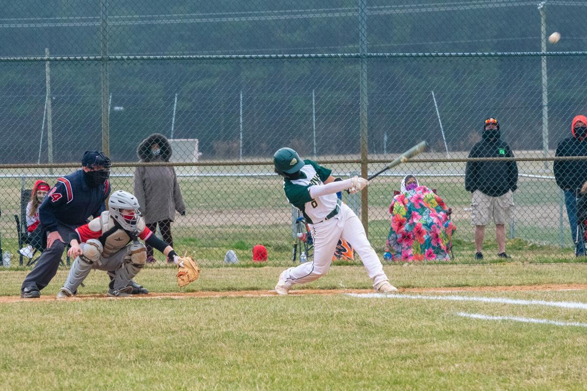 IRHS Baseball vs. Laurel - Roman Keith gets a hit
