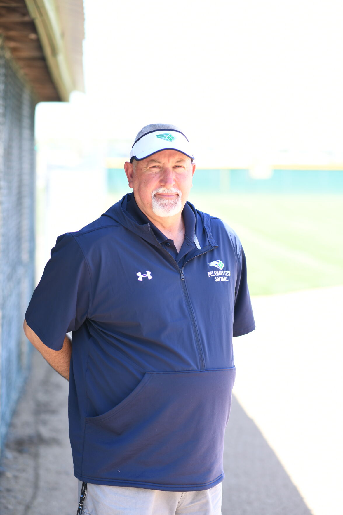 DelTech softball head coach Guy Wilkins