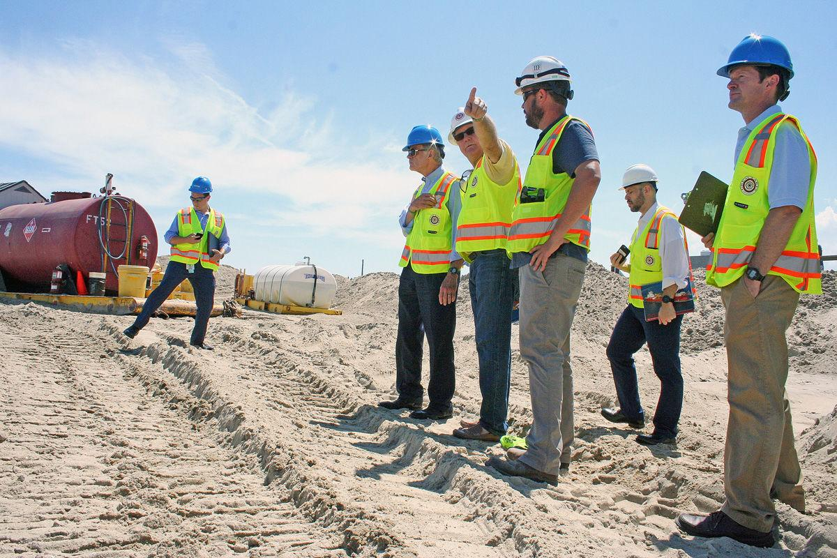 Carper visits Bethany Beach to see replenishment project