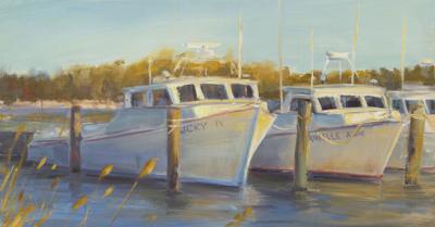 'Waiting,' an oil painting by Joe Terrone, RAL teacher