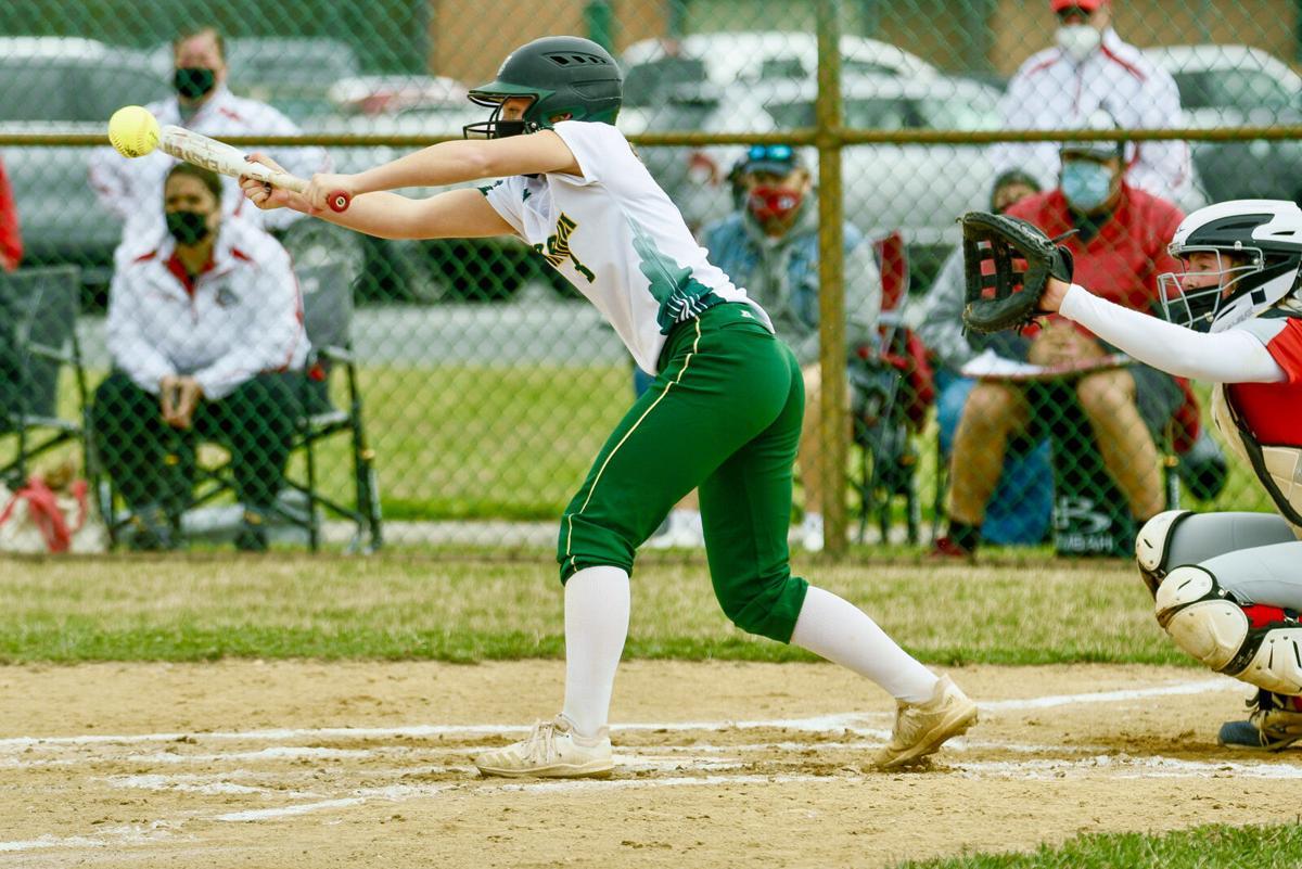 IRHS Softball vs. Laurel - Kinsley Hall goes for the bunt-SLy-2169.jpg