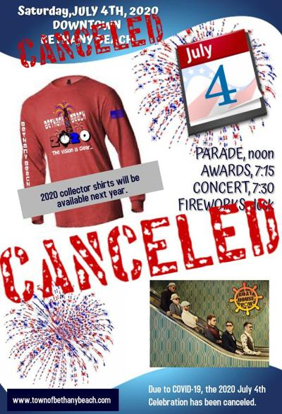 Bethany Beach events canceled July 4