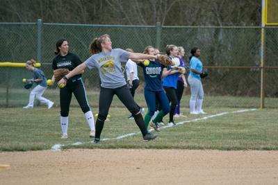IR softball practice, 2020 spring season
