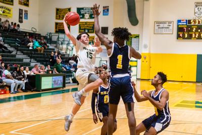 IR's Gage Spinks goes up strong vs. Seaford (copy)
