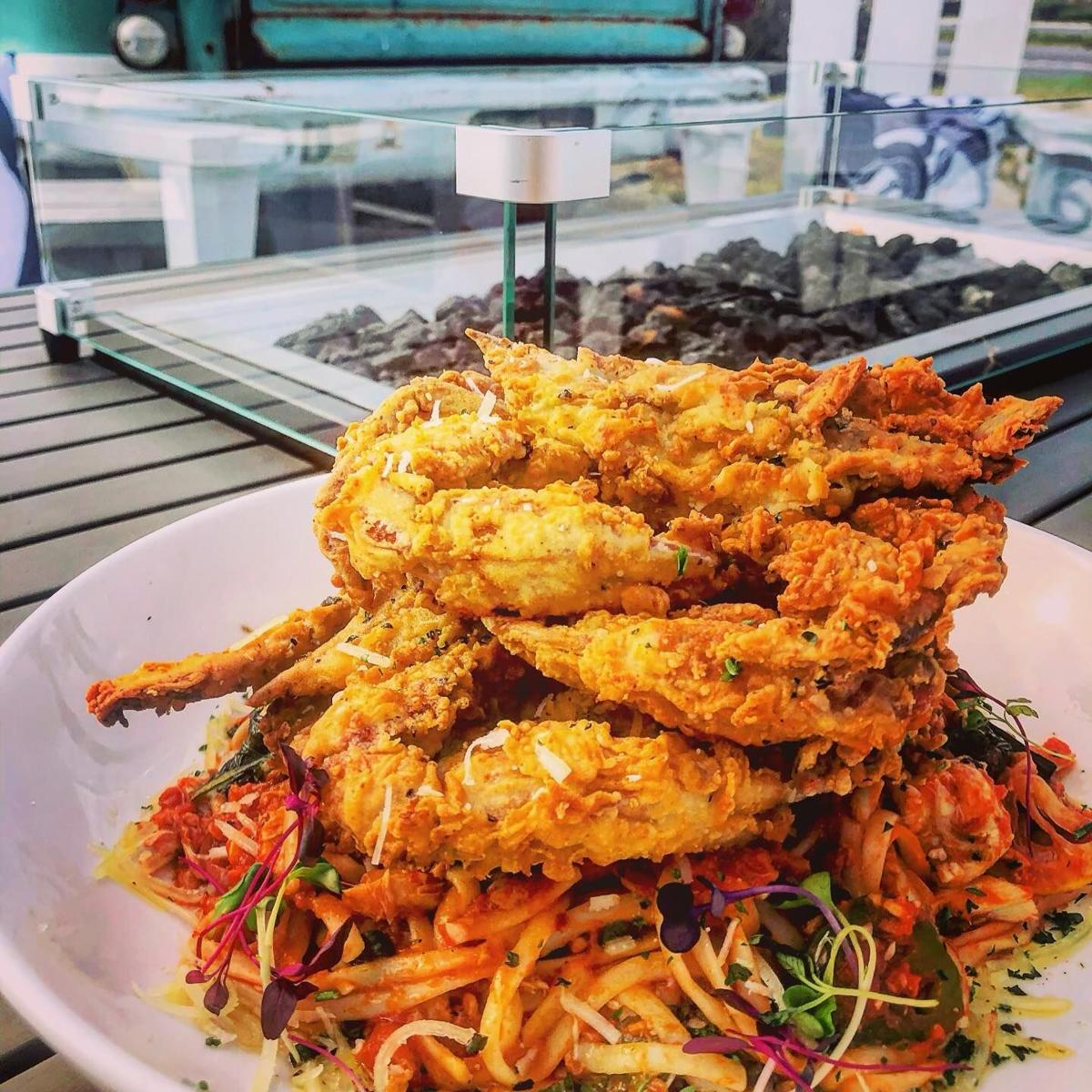 Soft-shell crabs at Matt's Fish Camp in Lewes