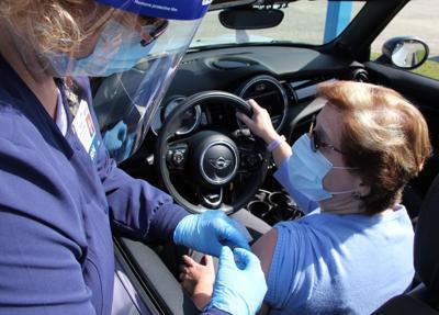 PRMC TidalHealth drive-through flu-shot clinic