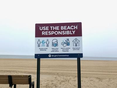 Use the Beach Responsibly: signs in the sand