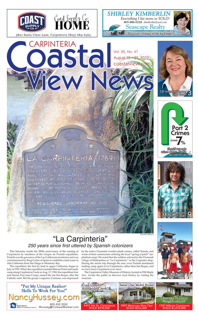 Coastal View News • August 15, 2019