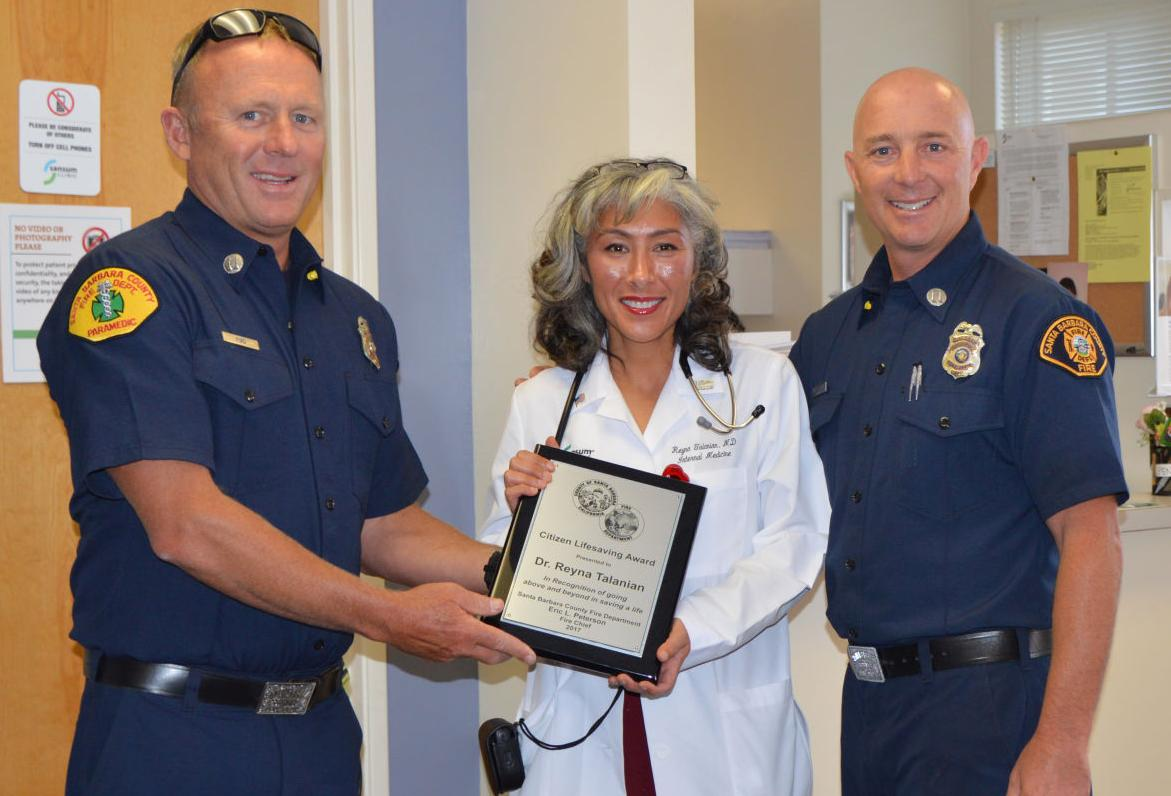 Doctor recognized for saving a teen life