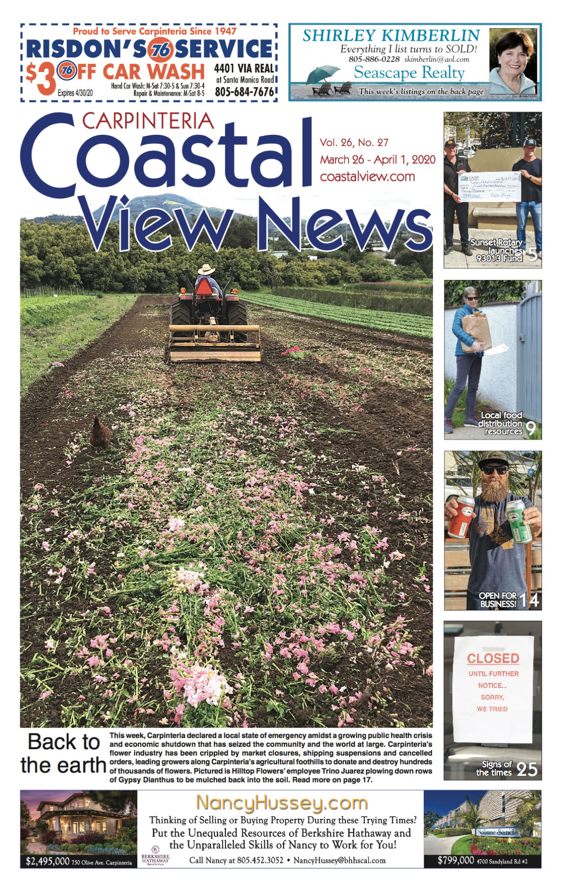 Coastal View News • March 26, 2020