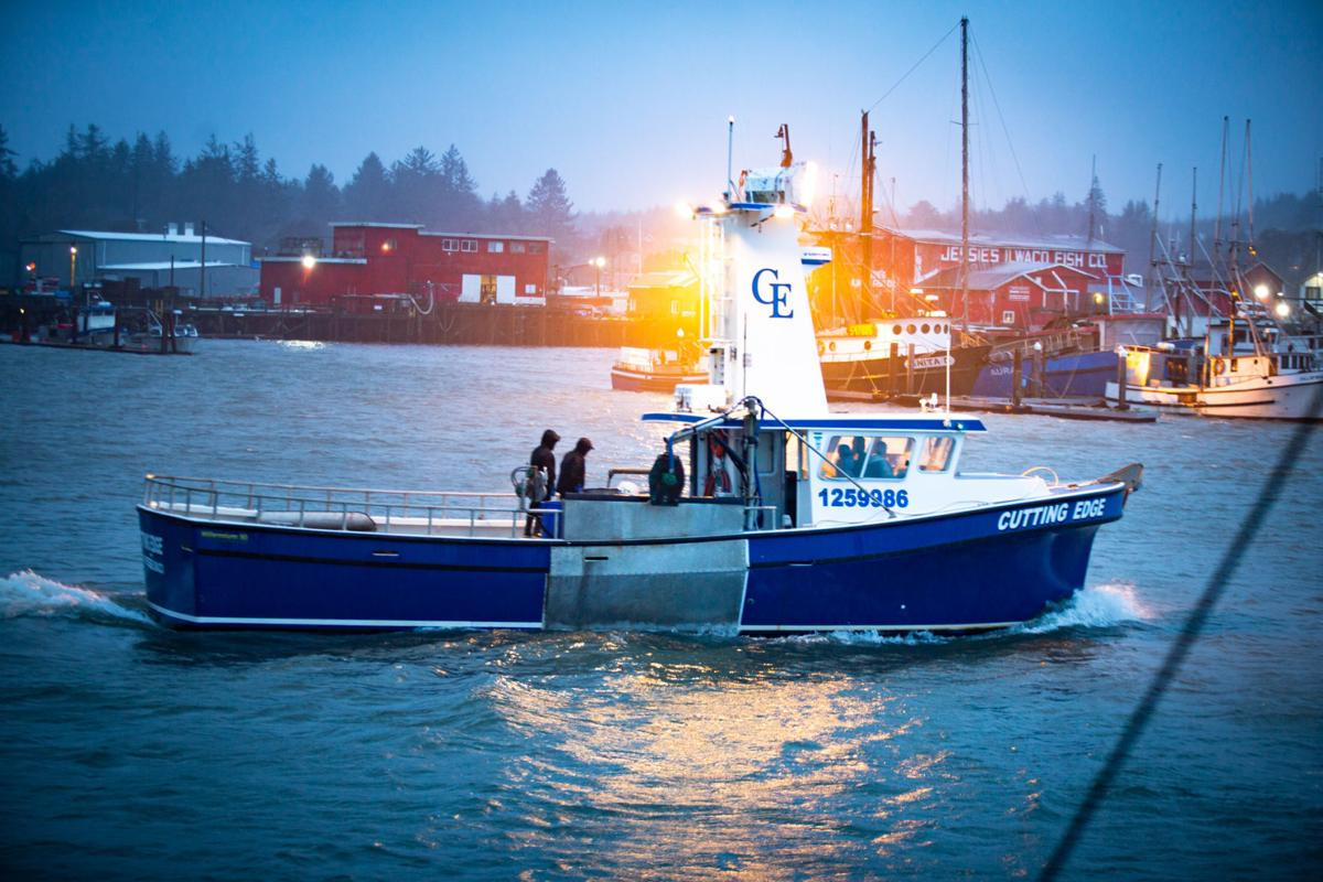 The F/V Cutting Edge returns to port