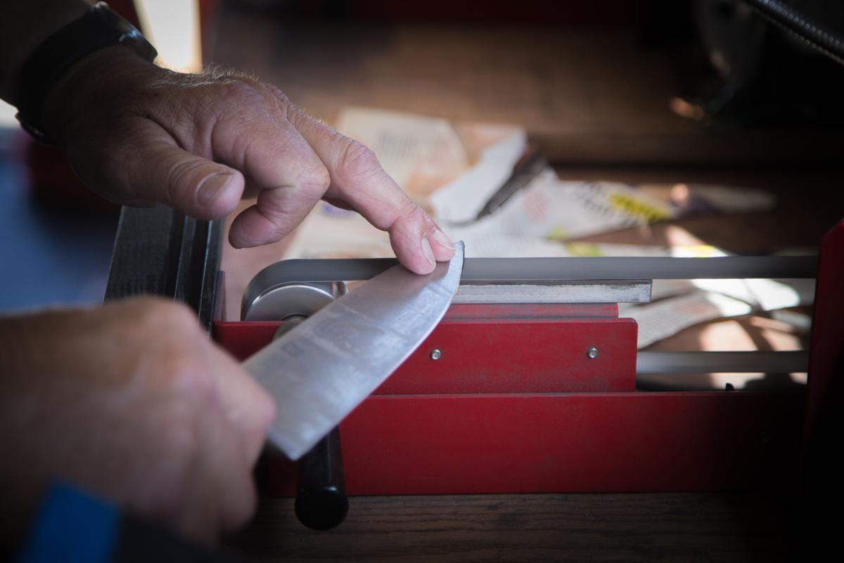 McClellan, 73, first learned to sharpen knives as a 15-year-old.