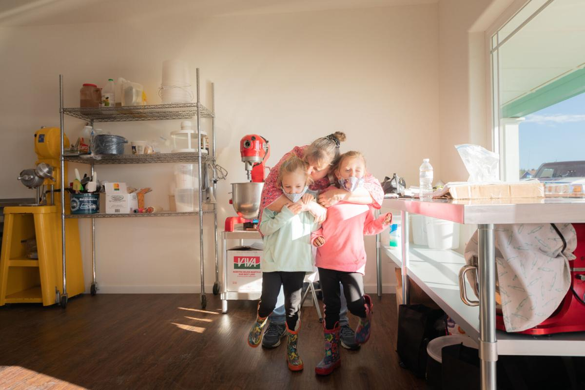 Bennett with grandchildren
