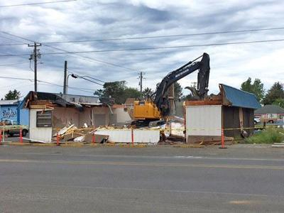 Old pharmacy building makes way for new facility