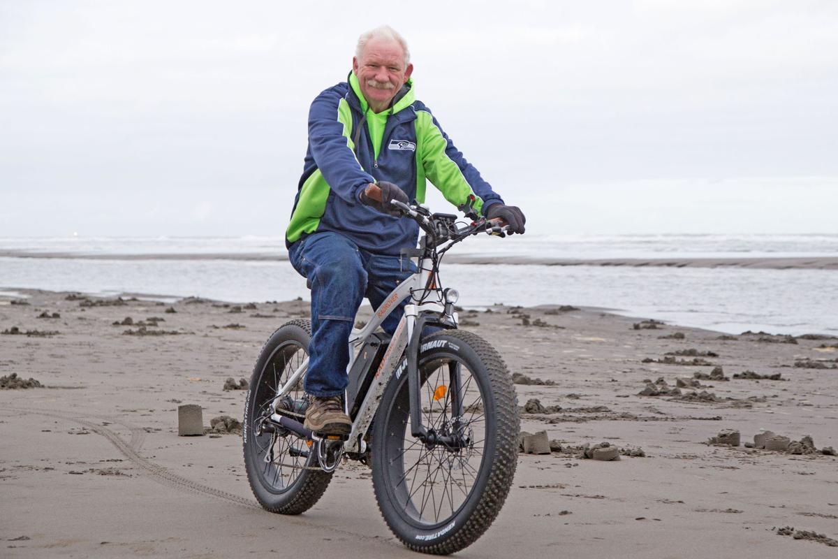 Biking the beach